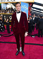 Armie Hammer arrives at the Oscars on Sunday, March 4, 2018, at the Dolby Theatre in Los Angeles. (Photo by Charles Sykes/Invision/AP)