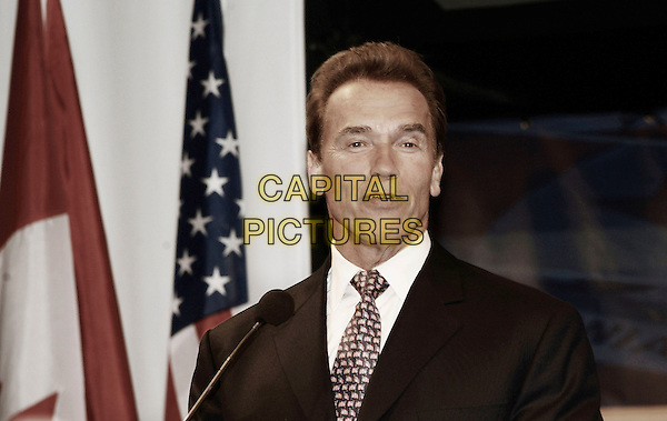 ARNOLD SCHWARZENEGGER.California Gov. Arnold Schwarzenegger attends a reception sponsored by Cisco Canada held at the Liberty Grand to promote the state of California, Toronto, Ontario, Canada. USA,29 May 2007..portrait headshot tie suit.CAP/ADM/BP.©Brent Perniac/AdMedia/Capital Pictures.