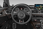 Car pictures of steering wheel view of a 2015 Audi S7 Base 4 Door Sedan