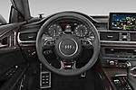 Car pictures of steering wheel view of a 2015 Audi S7 Base 4 Door Sedan