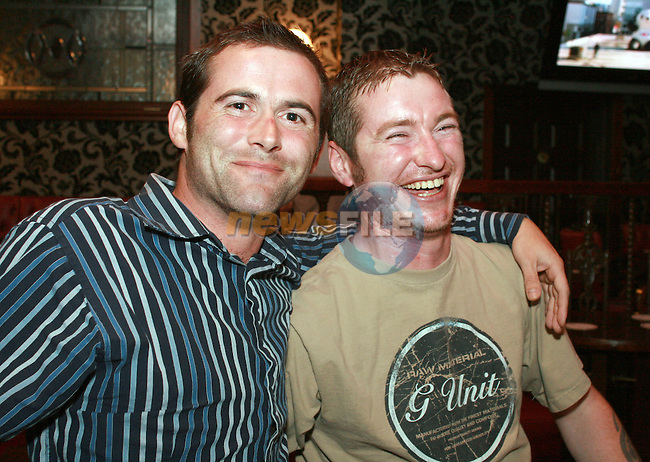John Whearty and Paul Kirwan enjoying a night out in Grennans...Photo NEWSFILE/Jenny Matthews.(Photo credit should read Jenny Matthews/NEWSFILE)....This Picture has been sent you under the condtions enclosed by:.Newsfile Ltd..The Studio,.Millmount Abbey,.Drogheda,.Co Meath..Ireland..Tel: +353(0)41-9871240.Fax: +353(0)41-9871260.GSM: +353(0)86-2500958.email: pictures@newsfile.ie.www.newsfile.ie.FTP: 193.120.102.198.