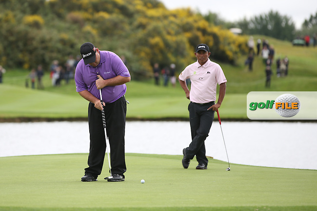 The moment Kevin Stadler (USA) missed a vital putt for par to move into a play-off with Graeme McDowell (NIR), during the Final Round of the Alstom Open de France from Le Golf National, Guyancourt, Versailles, France. Picture:  David Lloyd / www.golffile.ie