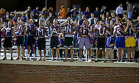 The number 24 ranked Furman Paladins took on the number 20 ranked Clemson Tigers in an inter-conference game at Clemson's Riggs Field.  Furman defeated Clemson 2-1.  Furman fans