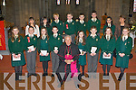 Loreto NS pupils who was confirmed by Bishop Bill Murphy in St Mary's Cathedral Killarney on Friday front row l-r: Shauna Courtney, Donal O'Sullivan, Anna O'Connor, Peter O'Donoghue, Aine O'Sullivan, Dylan Sheahan, Ada Fleming and Laura O'Sullivan. Back row: Grainne McGillicuddy, Elizabeth Moran, Patrick Wrenn, Billy Courtney, David Shaw, John Beecher, Aldina Murphy and Mary O'Sullivan..