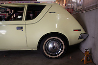 Reinholds, Pennsylvania, February 10, 2015 - Brian Moyer's 1970 Gremlin Custom in one of his garages. <br /> <br /> Moyer owns 16 AMC Gremlins. The Gremlin was introduced on April Fools Day (April 1) in 1970 featuring a shortened Hornet body with a Kammback tail and was manufactured in the US via AMC and in Mexico via AMC's subsidiary VAM. It's lifecycle ended in 1978 when it was replaced by the AMC Spirit. Moyer became interested as a kid when he saw the early Gremlin commercials in 1970. His first car was a Gremlin and he has never not owned one. Today he has arguably the most unique collection of Gremlins in the world, including several that are one-of-a kind models. <br /> <br /> CREDIT: Daryl Peveto for The Wall Street Journal<br /> Photo Assignment ID: 36892 <br /> Slug: MYRIDE_Gremlin