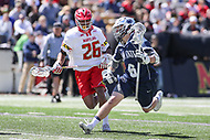 College Park, MD - April 8, 2017: Penn State Nittany Lions Ryan Keenan (6) makes a move during game between Penn State and Maryland at  Capital One Field at Maryland Stadium in College Park, MD.  (Photo by Elliott Brown/Media Images International)