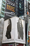 Janet Jackson featured in her second consecutive ?What Becomes Legend Most?? ad campaign & billboard for luxury mink supplier Blackglama. Times Square, New York on December 12, 2012