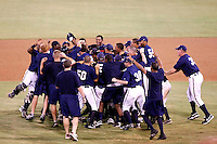 The AZL Brewers celebrate the 2010 Arizona League championship right after defeating the AZL Reds, 10-8, in a one-game playoff at Maryvale Stadium, Phoenix, AZ - 08/31/2010.Photo by:  Bill Mitchell/Four Seam Images..