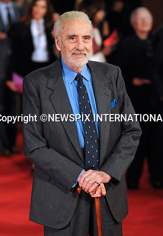 "CHRISTOPHER LEE.'Triage' premiere, 4th International Rome Film Festival,  Auditorium Parco della Musica, Rome_15/10/2009.Mandatory Credit Photo: ©NEWSPIX INTERNATIONAL..**ALL FEES PAYABLE TO: ""NEWSPIX INTERNATIONAL""**..IMMEDIATE CONFIRMATION OF USAGE REQUIRED:.Newspix International, 31 Chinnery Hill, Bishop's Stortford, ENGLAND CM23 3PS.Tel:+441279 324672  ; Fax: +441279656877.Mobile:  07775681153.e-mail: info@newspixinternational.co.uk"