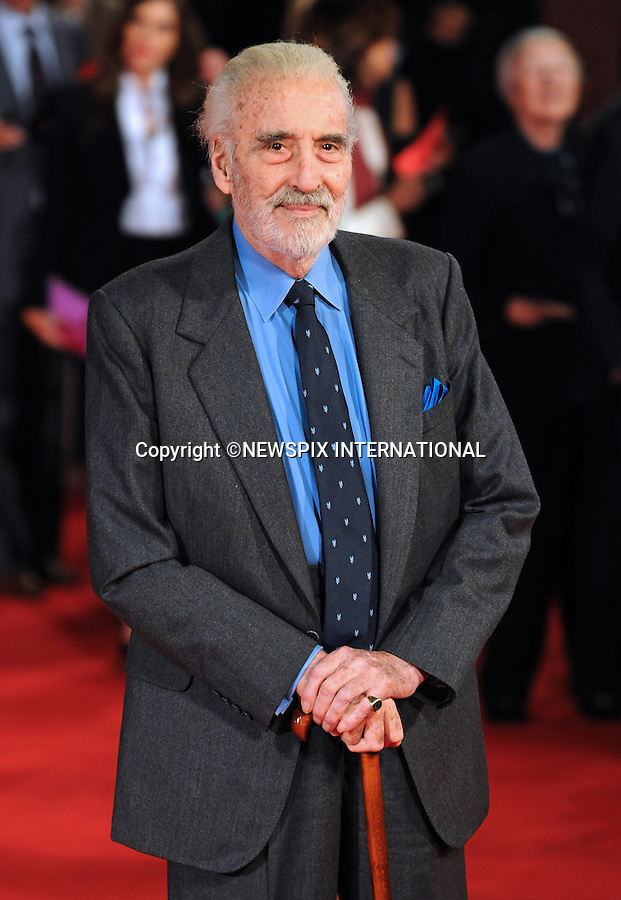"""CHRISTOPHER LEE.'Triage' premiere, 4th International Rome Film Festival,  Auditorium Parco della Musica, Rome_15/10/2009.Mandatory Credit Photo: ©NEWSPIX INTERNATIONAL..**ALL FEES PAYABLE TO: """"NEWSPIX INTERNATIONAL""""**..IMMEDIATE CONFIRMATION OF USAGE REQUIRED:.Newspix International, 31 Chinnery Hill, Bishop's Stortford, ENGLAND CM23 3PS.Tel:+441279 324672  ; Fax: +441279656877.Mobile:  07775681153.e-mail: info@newspixinternational.co.uk"""
