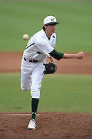 South Florida Bulls pitcher Jimmy Herget (20) during a game against the Florida State Seminoles on March 5, 2014 at Red McEwen Field in Tampa, Florida.  Florida State defeated South Florida 4-1.  (Mike Janes/Four Seam Images)