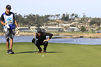 Jon Rahm (ESP) on the 7th green during Sunday's Final Round of the 2018 AT&amp;T Pebble Beach Pro-Am, held on Pebble Beach Golf Course, Monterey,  California, USA. 11th February 2018.<br /> Picture: Eoin Clarke | Golffile<br /> <br /> <br /> All photos usage must carry mandatory copyright credit (&copy; Golffile | Eoin Clarke)