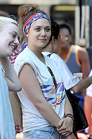 """Dakota Fanning and Elizabeth Olsen on the set of """"Very Good Girls"""" in Brooklyn, New York, 12.07.2012...Credit: Rolf Mueller/face to face /MediaPunch Inc. ***FOR USA ONLY*** ***Online Only for USA Weekly Print Magazines*** /*NORTEPHOTO*<br /> **SOLO*VENTA*EN*MEXICO**<br /> **CREDITO*OBLIGATORIO** <br /> **No*Venta*A*Terceros**<br /> **No*Sale*So*third**<br /> *** No*Se*Permite Hacer Archivo**<br /> **No*Sale*So*third**"""