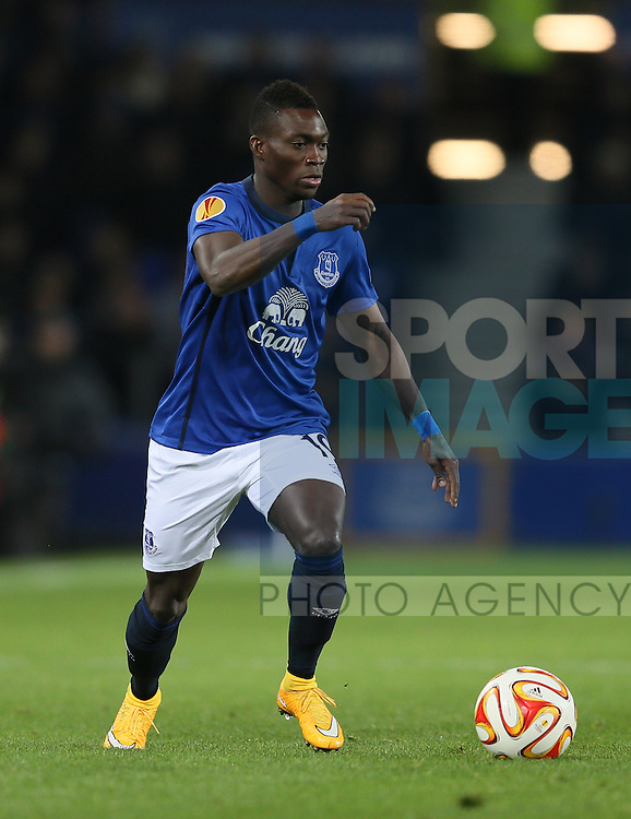Christian Atsu of Everton - UEFA Europa League - Everton vs  Lille - Goodison Park Stadium - Liverpool - England - 6th November 2014 - Pic Simon Bellis/Sportimage