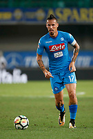 Marek Hamsik  during the  italian serie A soccer match,between Hellas Verona and SSC Napoli  at  the Bentegodi    stadium in Verona  Italy , August 19, 2017