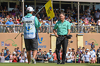 Jimmy Walker (USA) after sinking his birdie putt on 18 during Round 4 of the Valero Texas Open, AT&amp;T Oaks Course, TPC San Antonio, San Antonio, Texas, USA. 4/22/2018.<br /> Picture: Golffile | Ken Murray<br /> <br /> <br /> All photo usage must carry mandatory copyright credit (&copy; Golffile | Ken Murray)