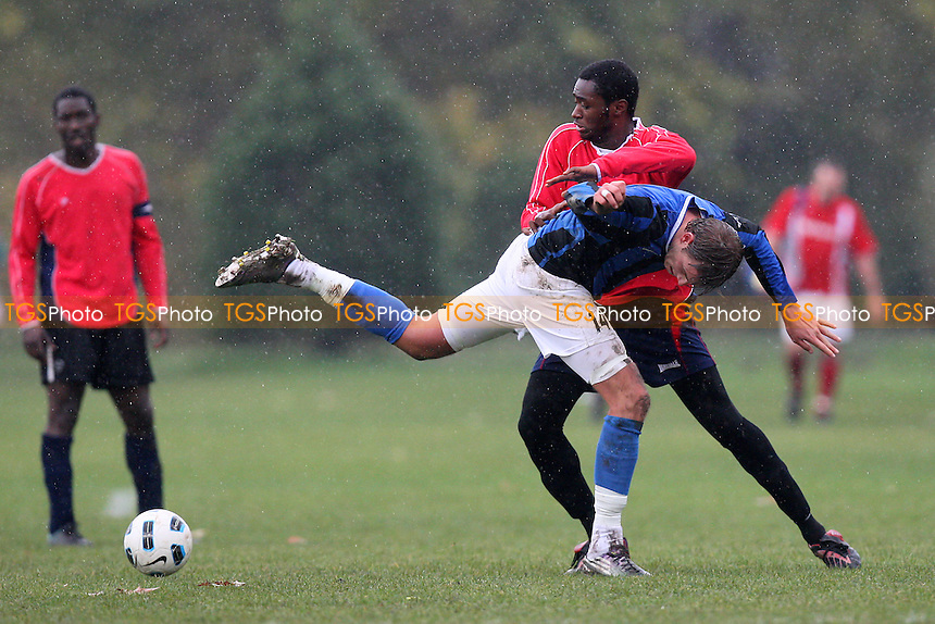 Homerton Rangers (red) vs Inter Moore (blue/black) - East London Sunday League Football at South Marsh, Hackney Marshes - 14/11/10 - MANDATORY CREDIT: Gavin Ellis/TGSPHOTO - Self billing applies where appropriate - Tel: 0845 094 6026