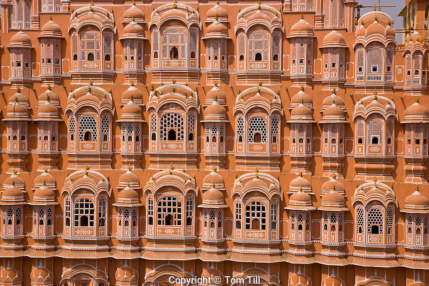 The Hawa Mahal, or Palace of the Winds      Jaipur, India      Rajasthan