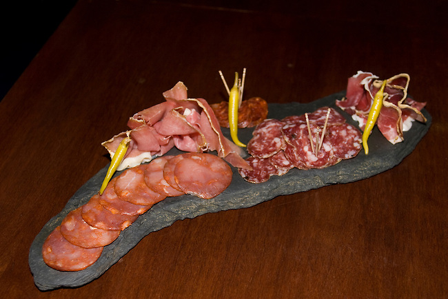 Appetizers, Club Gascon Restaurant, Florence, Italy