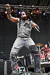 Lajon Witherspoon of Sevendust performs during the 2013 Rock On The Range festival at Columbus Crew Stadium in Columbus, Ohio.
