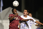 10 November 2010: BC's Edvin Worley (6) and Duke's Matthew Thomas (5). The Duke University Blue Devils played the Boston College Eagles at Koka Booth Stadium at WakeMed Soccer Park in Cary, North Carolina in an ACC Men's Soccer Tournament Quarterfinal game.