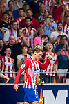 Antoine Griezmann of Atletico de Madrid celebrates after scoring during the La Liga 2018-19 match between Atletico de Madrid and Rayo Vallecano at Wanda Metropolitano on August 25 2018 in Madrid, Spain. Photo by Diego Souto / Power Sport Images
