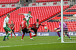 LONDON, ENGLAND - MARCH 29: Ryan Kenda of North Ferriby United (16) scores his team's third goal against Wrexham to make it 3-2 during the FA Carlsberg Trophy Final 2015 at Wembley Stadium on March 29, 2015 in London, England. (Photo by David Horn/EAP)