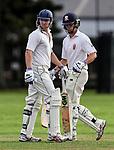 Mark Chapman and Ben Horne. Kings College Old Collegians XI v Kings College 1st XI, Kings College, Auckland, New Zealand, Sunday 2 April 2017. Photo: Simon Watts/www.bwmedia.co.nz