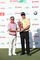 Stephen Gallacher (SCO) winner of the Hero Indian Open 2019, DLF Golf, New Delhi, New Delhi, India. 31/03/2019.<br /> Picture K.Jairaj / Golffile.ie<br /> <br /> All photo usage must carry mandatory copyright credit (&copy; Golffile | K.Jairaj)