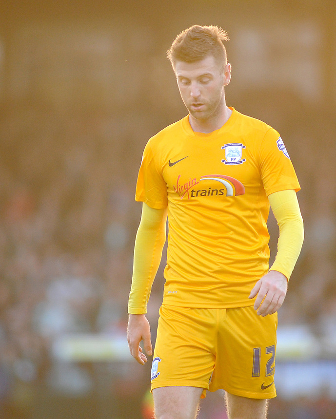 Preston North End's Paul Gallagher in action during todays match  <br /> <br /> Photographer Kevin Barnes/CameraSport<br /> <br /> Football - The Football League Sky Bet League One - Yeovil Town v Preston North End - Saturday 29th November 2014 - Huish Park - Yeovil<br /> <br /> &copy; CameraSport - 43 Linden Ave. Countesthorpe. Leicester. England. LE8 5PG - Tel: +44 (0) 116 277 4147 - admin@camerasport.com - www.camerasport.com