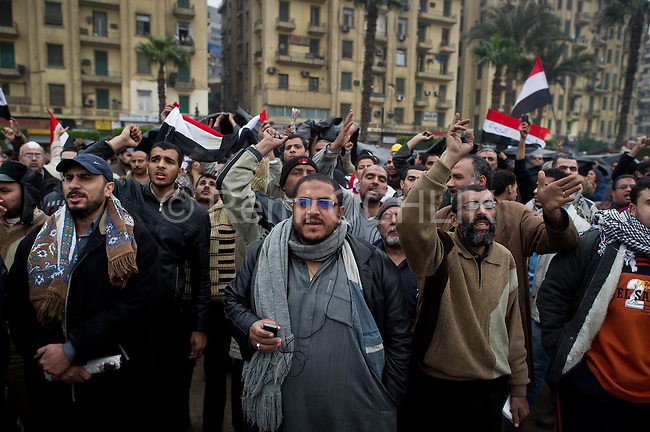 "Remi OCHLIK/IP3 -  February 5 2011  CAIRO - The top leadership body of Egypt's ruling party resigned Saturday, including the president's son, but the regime appeared to be digging in its heels, calculating that it can ride out street demonstrations and keep President Hosni Mubarak in office. Protesters have refused to end their mass rallies in downtown Tahrir Square until Mubarak quits. Tens of thousands gathered Saturday in Tahrir, waving flags and chanting a day after some 100,000 massed there in an intensified demonstration labeled ""the day of departure,"" in hopes it would be the day Mubarak leaves...Their unprecedented 12-day movement has entered a delicate new phase. Organizers fear that without the pressure of protesters on the street, Mubarak's regime will enact only cosmetic reforms and try to preserve its grip on power. So they are reluctant to lift their demonstrations without the concrete gain of Mubarak's ouster and a transition mechanism that guarantees a real move to democracy afterward"