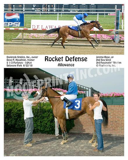 Rocket Defense winning at Delaware Park on 6/22/10
