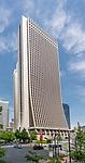The exterior of the Shinjuku Sompo Japan Building in Shinjuku, Tokyo, Japan