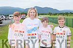 TJ and Frances O'Sullivan, Eoin Looney and Brian O'Sullivan Killarney having fun at the Killarney Colour Run in Killarney Racecourse on Saturday