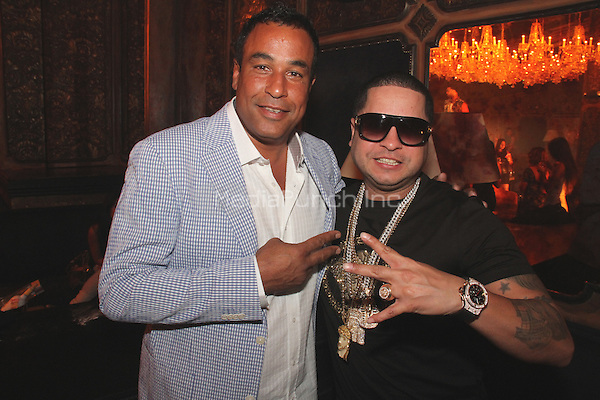 "NEW YORK, NY - SEPTEMBER 8: Jimmy Rodriguez & Tempo on the set of Fat Joe & Jennifer Lopez video shoot for ""Stressin"" September 8, 2014 in New York City. Credit: Walik Goshorn/MediaPunch"