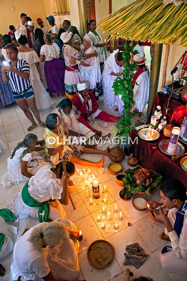 Festa de Pretos Velhos em terreiro de umbanda, municipio de Caxias. Maranhao. 2015. Foto de Candido Neto.