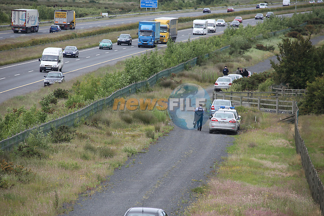 the scene of the murder in Ballough , Balbriggan where a mans body was found with gun shot wounds..Pic: Fran Caffrey/www.newsfile.ie