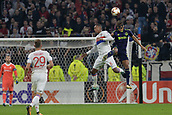 2nd November 2017, Nice, France; EUFA Europa League, Olympique Lyonnais versus Everton;  Marcello (lyon) and Dominic Calvert-Lewin (everton) challenge for the header