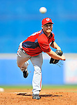 28 February 2011: Washington Nationals' pitcher Chad Gaudin on the mound in a Spring Training game against the New York Mets at Digital Domain Park in Port St. Lucie, Florida. The Nationals defeated the Mets 9-3 in Grapefruit League action. Mandatory Credit: Ed Wolfstein Photo