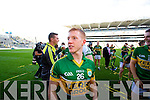 Pa Kilkenny. Kerry players celebrate their victory over Donegal in the All Ireland Senior Football Final in Croke Park Dublin on Sunday 21st September 2014.