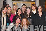 KEY OF THE DOOR: Carmel OSullivan, Ballyhar, celebrates her 21st birthday with her friends in Good Friends Restaurant, Killarney, last Saturday night. Front l-r: Carmel OSullivan (birthday girl) and Theresa Daly. Back l-r: Danielle Mannix, Denise Carroll, Ann Horan, Jennifer Licup, Breda Moran, Leana OBrien, Sarah Cronin and Aoife McDermott..
