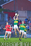 James Walsh of Kerry takes the high ball against Cork in the Munster U21 Football Championship Final held on Wednesday night in Pairc Ui Rinn Cork.