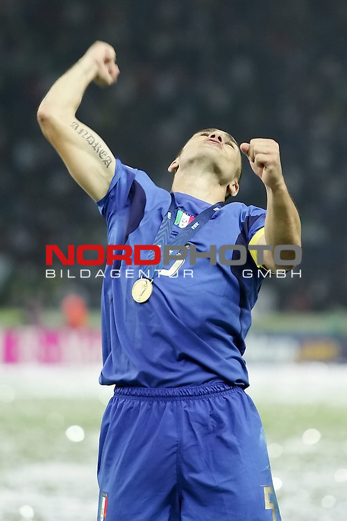 FIFA WM 2006 - Final / Finale<br /> Play #64 (09-Jul) - Italy vs France.<br /> <br /> CANNAVARO Fabio<br /> <br /> Italy is World Champion / Weltmeister 2006 mit dem Pokal / Trophy after the match of the World Cup in Berlin.<br /> <br /> <br /> Foto &copy; nordphoto