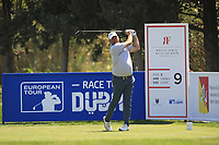 Thomas Bjorn (DEN) on the 9th tee during Round 3 of the Rocco Forte Sicilian Open 2018 played at Verdura Resort, Agrigento, Sicily, Italy on Saturday 12th May 2018.<br /> Picture:  Thos Caffrey / www.golffile.ie<br /> <br /> All photo usage must carry mandatory copyright credit (&copy; Golffile   Thos Caffrey)