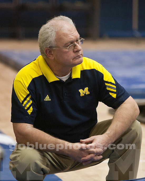 University of Michigan men's gymnastics 351.250-346.200 loss to #5 Stanford at Cliff Keen Arena in Ann Arbor, MI, on February 26, 2011.