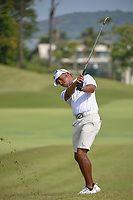 Ahmad BAIG (PAK) watches his approach shot on 18 during Rd 1 of the Asia-Pacific Amateur Championship, Sentosa Golf Club, Singapore. 10/4/2018.<br /> Picture: Golffile | Ken Murray<br /> <br /> <br /> All photo usage must carry mandatory copyright credit (&copy; Golffile | Ken Murray)