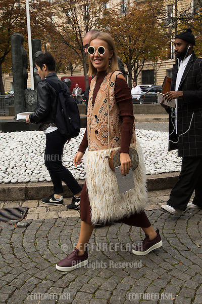Ksenia Sobchak attend Miu Miu Show Front Row - Paris Fashion Week  2016.<br /> October 7, 2015 Paris, France<br /> Picture: Kristina Afanasyeva / Featureflash