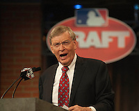 Commissioner Bud Selig during the MLB Draft on Thursday June 05,2014 at Studio 42 in Secaucus, NJ.   (Tomasso DeRosa/ Four Seam Images)