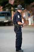 Policeman in Hinton, West Virginia, an impoverished town affected by the decline in the local coal mining industry.