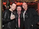 Colm McQuillan, Sid and Johnny McArdle enjoying the New year weekend in The Grey Goose. Photo:Colin Bell/pressphotos.ie